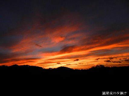 2014-10・04 嵐前夜の夕焼け (1).JPG