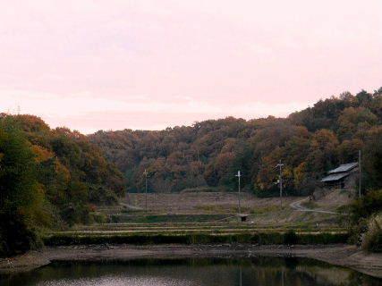 2014-11・22 夕暮の里山.JPG